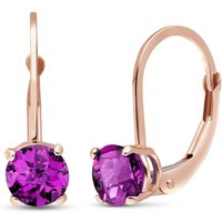 Pink Topaz Boston Drop Earrings 1.3 ctw in 9ct Rose Gold - Pink Gifts