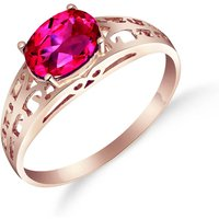 Pink Topaz Catalan Filigree Ring 1.15 ct in 9ct Rose Gold - Pink Gifts