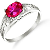 Pink Topaz Catalan Filigree Ring 1.15 ct in Sterling Silver - Pink Gifts