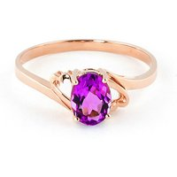 Pink Topaz Classic Desire Ring 1 ct in 9ct Rose Gold - Ring Gifts