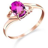 Pink Topaz Classic Desire Ring 1 ct in 9ct Rose Gold - Pink Gifts