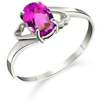 Pink Topaz Classic Desire Ring 1 ct in Sterling Silver - Pink Gifts