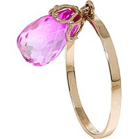 Pink Topaz Crown Ring 3 ct in 9ct Gold