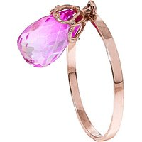 Pink Topaz Crown Ring 3 ct in 9ct Rose Gold - Pink Gifts