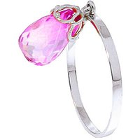 Pink Topaz Crown Ring 3 ct in Sterling Silver - Pink Gifts