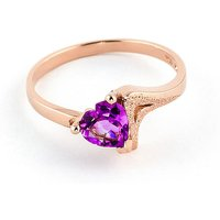 Pink Topaz Devotion Ring 0.95 ct in 9ct Rose Gold - Pink Gifts