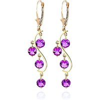 Pink Topaz Dream Catcher Drop Earrings 4.95 ctw in 9ct Gold - Pink Gifts