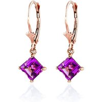 Pink Topaz Drop Earrings 3.2 ctw in 9ct Rose Gold - Pink Gifts