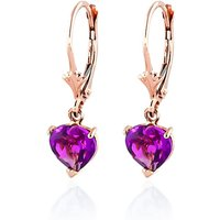 Pink Topaz Drop Earrings 3.25 ctw in 9ct Rose Gold - Pink Gifts