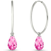 Pink Topaz Halo Earrings 4.5 ctw in 9ct White Gold - Pink Gifts