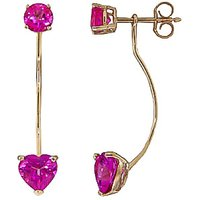 Pink Topaz Lure Drop Earrings 4.55 ctw in 9ct Gold - Pink Gifts