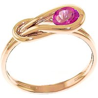Pink Topaz San Francisco Ring 0.65 ct in 18ct Rose Gold - Pink Gifts