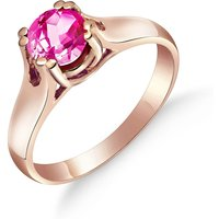 Pink Topaz Solitaire Ring 1.1 ct in 18ct Rose Gold - Pink Gifts