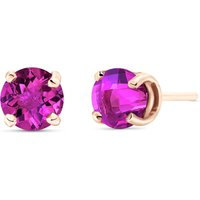 Pink Topaz Stud Earrings 1.3 ctw in 9ct Rose Gold - Earrings Gifts