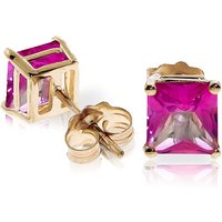 Pink Topaz Stud Earrings 1.75 ctw in 9ct Gold - Pink Gifts