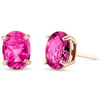 Pink Topaz Stud Earrings 1.8 ctw in 9ct Rose Gold - Earrings Gifts