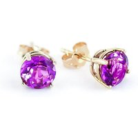 Pink Topaz Stud Earrings 3.1 ctw in 9ct Gold - Pink Gifts