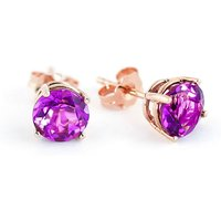 Pink Topaz Stud Earrings 3.1 ctw in 9ct Rose Gold - Pink Gifts