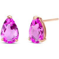 Pink Topaz Stud Earrings 3.15 ctw in 9ct Rose Gold - Earrings Gifts