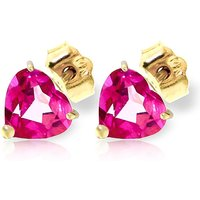 Pink Topaz Stud Earrings 3.25 ctw in 9ct Gold - Pink Gifts