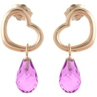Pink Topaz Stud Earrings 4.5 ctw in 9ct Rose Gold