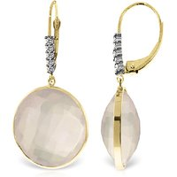 Rose Quartz Drop Earrings 34.15 ctw in 9ct Gold - Qp Jewellers Gifts