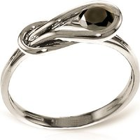 Round Cut Black Diamond Ring 0.5 ct in 9ct White Gold