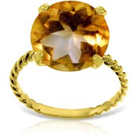 Image of Round Cut Citrine Ring 5.5 ct in 9ct Gold