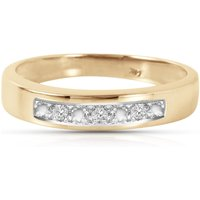 Round Cut Diamond Ring 0.02 ctw in 18ct Gold