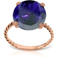 Round Cut Sapphire Ring 9.8 ct in 9ct Rose Gold