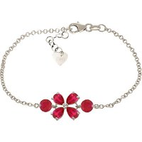 Ruby Adjustable Bracelet 3.15 ctw in 9ct White Gold