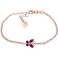 Ruby Adjustable Butterfly Bracelet 0.6 ctw in 9ct Rose Gold