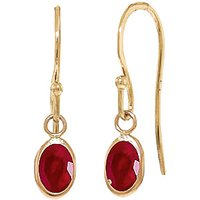 Ruby Allure Drop Earrings 1 Ctw In 9ct Gold
