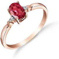 Ruby and Diamond Allure Ring in 9ct Rose Gold