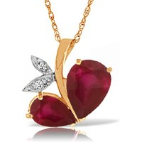Ruby & Diamond Eternal Pendant Necklace in 9ct Rose Gold - Fashion Gifts