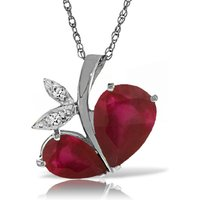 Ruby & Diamond Eternal Pendant Necklace in 9ct White Gold - Ruby Gifts