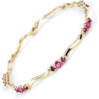 Ruby & Diamond Trinity Tennis Bracelet in 9ct Gold - Sport Gifts