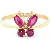 Ruby Butterfly Ring 0.6 ctw in 9ct Gold - Butterfly Gifts