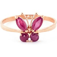Image of Ruby Butterfly Ring 0.6 ctw in 18ct Rose Gold
