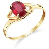 Ruby Classic Desire Ring 1.15 ct in 9ct Gold - Classic Gifts