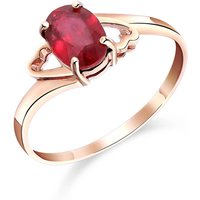 Ruby Classic Desire Ring 1.15 ct in 9ct Rose Gold