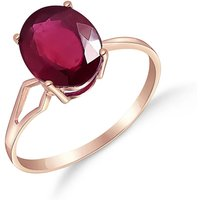 Ruby Claw Set Ring 3.5 ct in 9ct Rose Gold