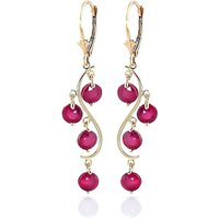 Ruby Dream Catcher Drop Earrings 4 ctw in 9ct Gold - Jewellery Gifts