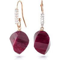 Ruby Drop Earrings 30.68 ctw in 9ct Rose Gold
