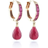 Ruby Droplet Huggie Earrings 7.8 ctw in 9ct Gold - Jewellery Gifts