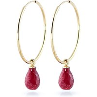 Ruby Halo Earrings 6.6 ctw in 9ct Gold - Jewellery Gifts