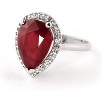 Ruby Halo Ring 5.51 ctw in 9ct White Gold
