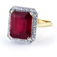 Ruby Halo Ring 7.45 ctw in 9ct Gold