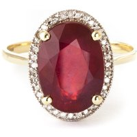 Ruby Halo Ring 7.93 ctw in 9ct Gold