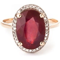Ruby Halo Ring 7.93 ctw in 9ct Rose Gold